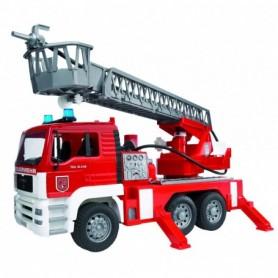 027711/ MAN brandweerwagen met ladder, waterpomp e