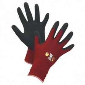 Werkhandschoen kinder Rood MT 8-11jaar