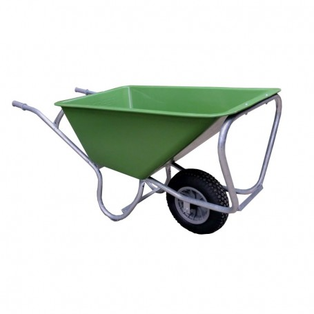 Kruiwagen Hummer (stal) 1 wiel L.Groen 160 liter