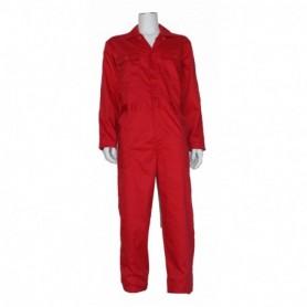 Kinderoverall polyester/katoen rood 140