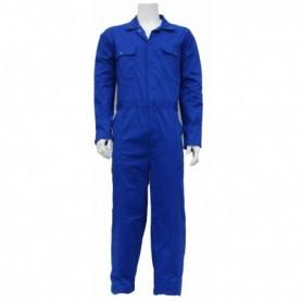 Kinderoverall polyester/katoen korenblauw 128
