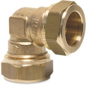 Klemkoppeling knie Bonfix 15 mm