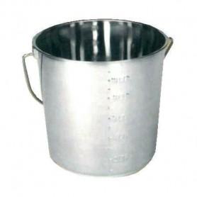 Emmer RVS 12,3 Liter
