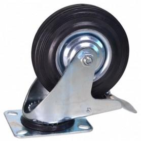 Zwenkwiel met rem 125 mm