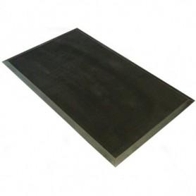 Mat Fingertip Rubber Zwart 60x100