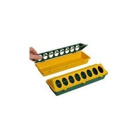 Kuikenvoerbak kunststof 30cm geel/groen
