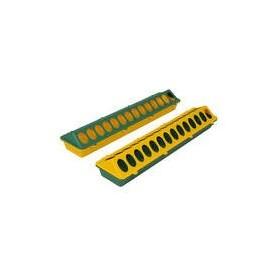 Kuikenvoerbak kunstst. 50cm geel/groen