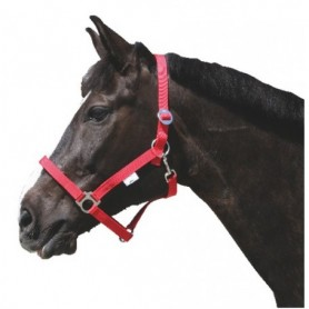 Halster Paard Nylon Rood NR2