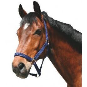 Halster paard nylon Blauw nr,2