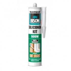 Kit Bison Siliconenkit Bouw Transparant 310 ml