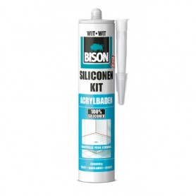 Kit Bison Siliconenkit Acrylbaden Wit 310 ml