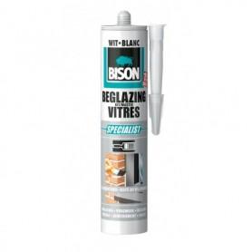 Kit Bison Beglazingskit Wit/Blanc 310 ml