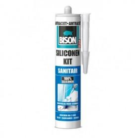 Kit Bison Siliconenkit Sanitair Antraciet 310 ml