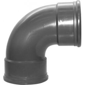 PVC Bocht 90 gr Manchet 125