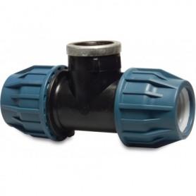 Tileen blauw T-stuk (90) BI 32x3/4