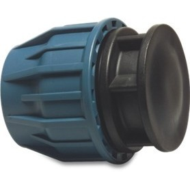 Tileen blauw Eindkap 25 mm
