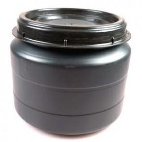 Opbergton schroefdeksel Zwart 60 liter