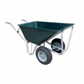 Kruiwagen HUMMER (STAL) Light 2 wiel D.Groen 160 liter