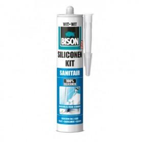 Kit Bison Siliconenkit Sanitair Wit 310 ml