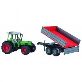 Bruder Tractor Fendt 209 S met trailer  1-16
