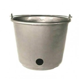 Emmer Rond Kalver speenemmer Grijs 12 liter