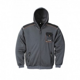 Sweater met capuchon 3814/6310 6310-dunkelgr./schw. L