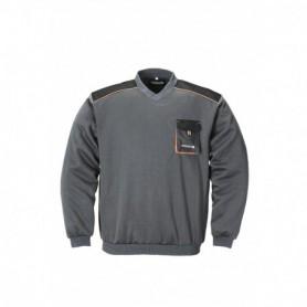 Sweater 3815/6310 Zwart/Grijs/oranje XXXXL