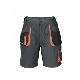 Broek KORT 3231/6310 Zwart/Grijs/oranje 54