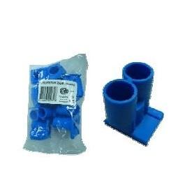 inbouwdoos BUISINVOERSTUK Invoertule dubbel blauw 5/8 16 mm
