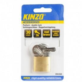 Hangslot Kinzo 30mm 3sleutels