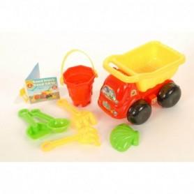 Zandbakspeelgoed truck 22 cm 7 delig