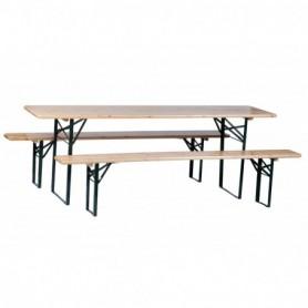 Biertafel 3 delig 2 banken 1 tafel
