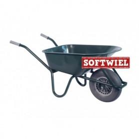 Kruiwagen HUMMER PP 100L. Lime + soft wiel Ongemonteerd