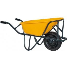 Kruiwagen HUMMER PE 85L. stratenmakers geel