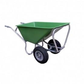 Kruiwagen HUMMER (STAL) 2-wiel L.Groen 160 Liter