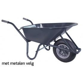 Kruiwagen HUMMER MT 85L. staal rondneus Metalen velg