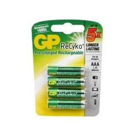 Batterijen Oplaadbaar GP AAA 850mAh 4 stuks