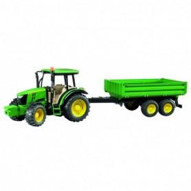 Bruder Tractor John Deere 5115M met trailer 1-16