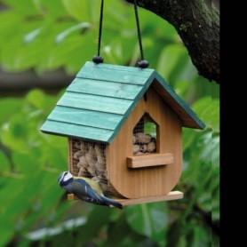 Vogelvoederhuis hout 20cm