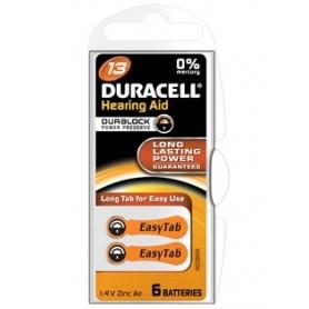 Batterijen Durac DA13 easytab 1,4V zinc air bl6