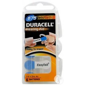 Batterijen Durac DA675 easytab 1.4V zinc air bl6