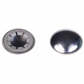Handvat rond grijs 30 mm. (set verpakt)