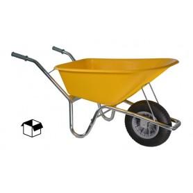 Bouw kruiwagen PE 85L. Geel DOOS