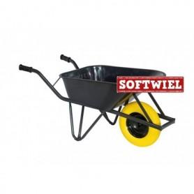 Bouw kruiwagen staal 85L. Ovale buis Foamwiel