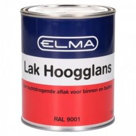 Verf Elma Hoogglans 9001 Creme Wit 750 ML