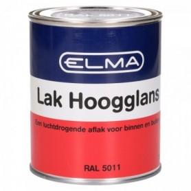 Verf Elma Hoogglans 5011 staal Blauw 750 ML
