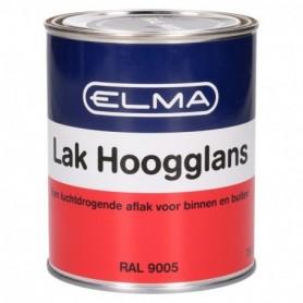 Verf Elma Hoogglans 9005 Diep Zwart 750 ML
