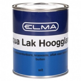 Verf Elma Aqua lak Hoogglans Wit 750 ML