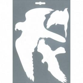 PICTO Vogels wit 3 stuks per vel