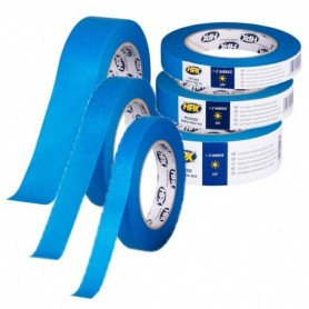 Afplakband Masking tape UV BLAUW 25 mm x 50 mtr